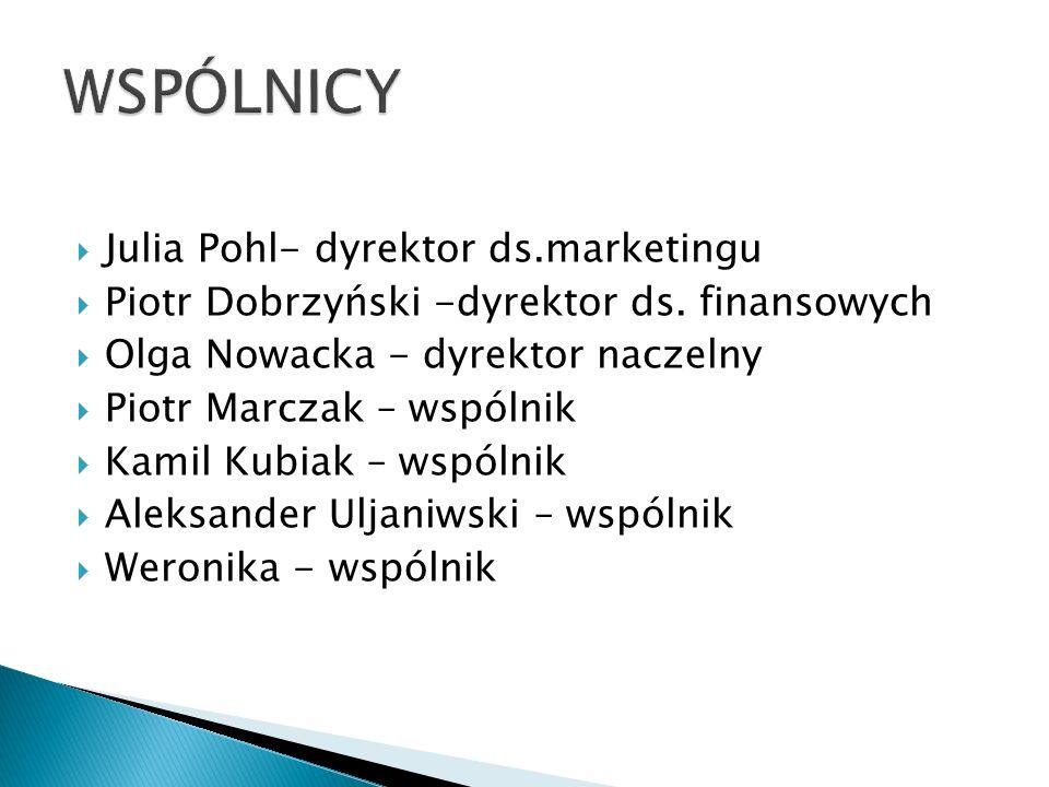  Julia Pohl- dyrektor ds.marketingu  Piotr Dobrzyński -dyrektor ds.
