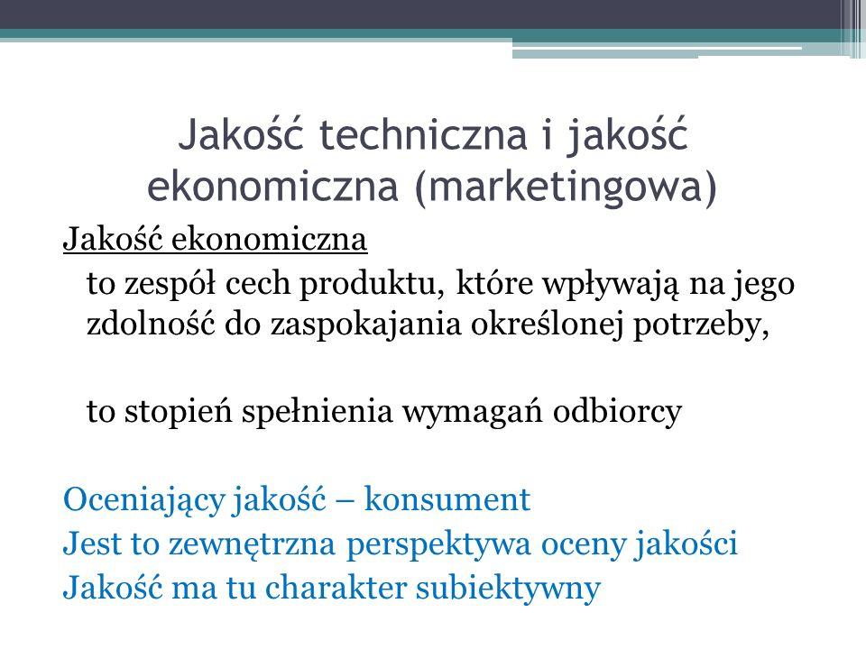 Klasyfikacja ujęć jakości wg.P.