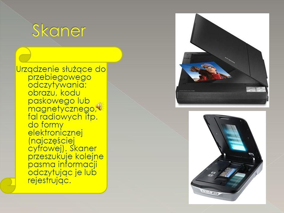 Urządzenie służące do przebiegowego odczytywania: obrazu, kodu paskowego lub magnetycznego, fal radiowych itp.