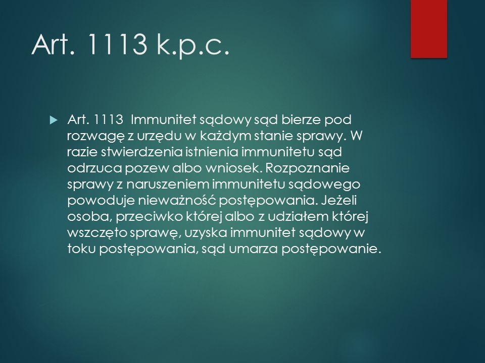 Art. 1113 k.p.c.  Art.