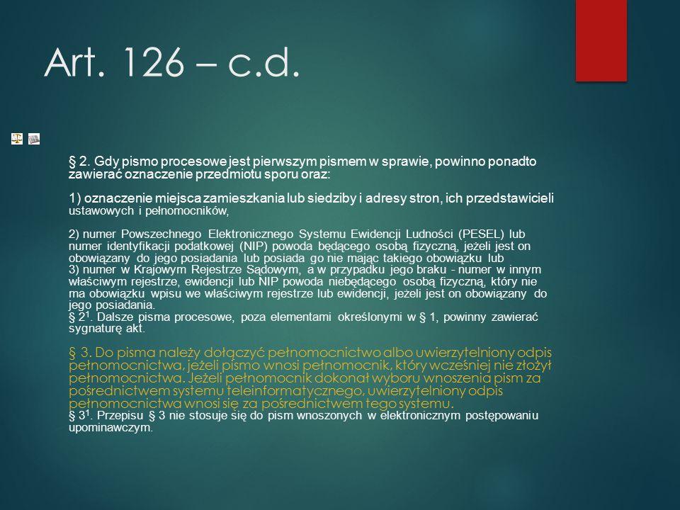 Art. 126 – c.d. § 2.