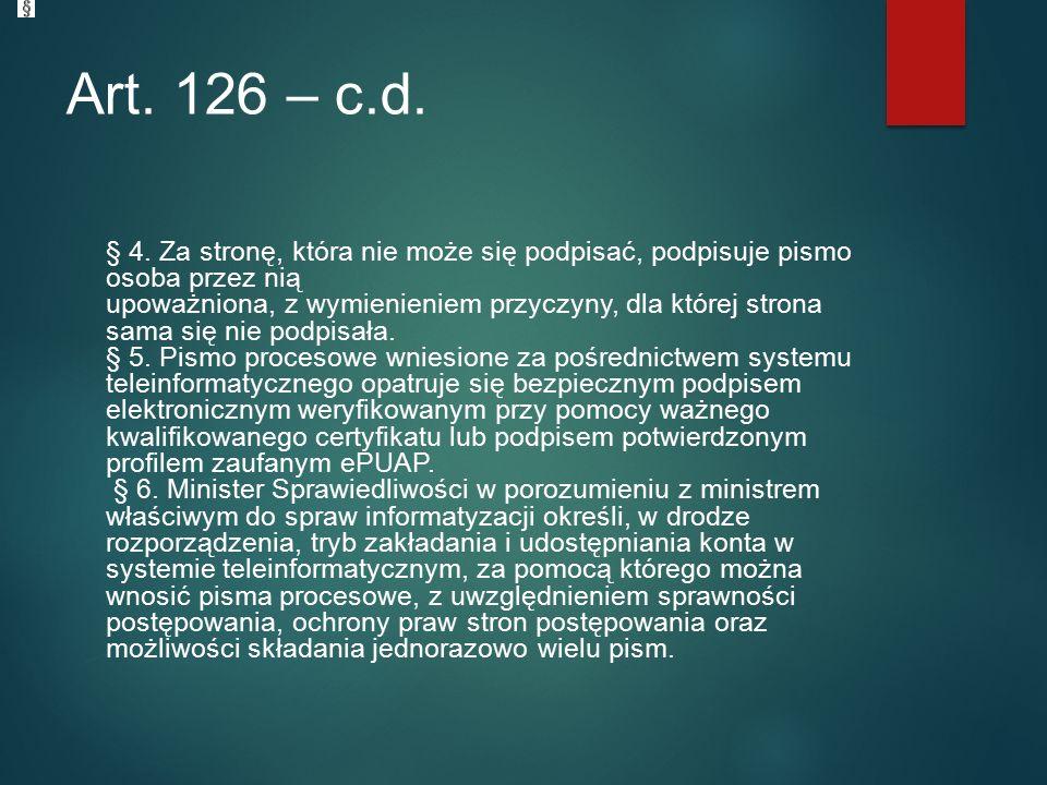 Art. 126 – c.d. § 4.