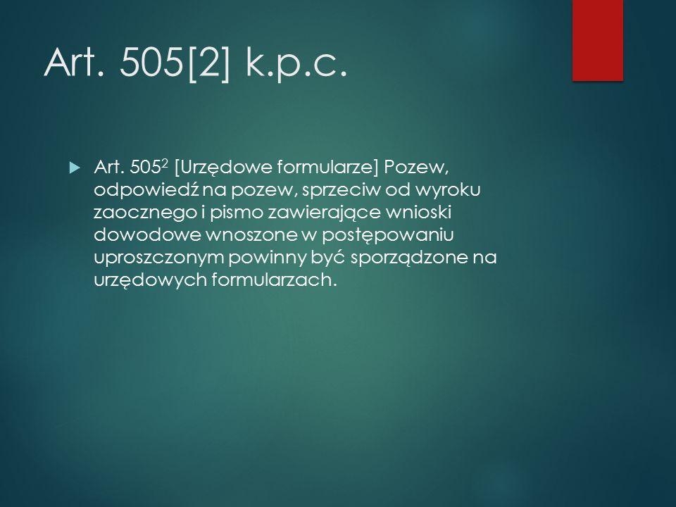 Art. 505[2] k.p.c.  Art.