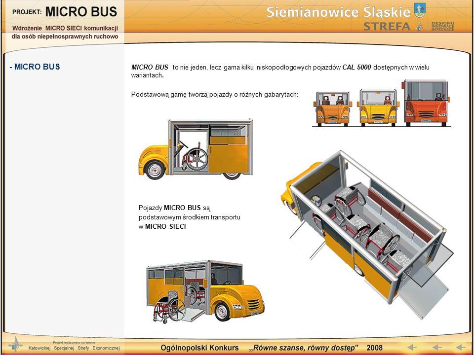 MICRO BUS to nie jeden, lecz gama kilku niskopodłogowych pojazdów CAL 5000 dostępnych w wielu wariantach. Podstawową gamę tworzą pojazdy o różnych gab