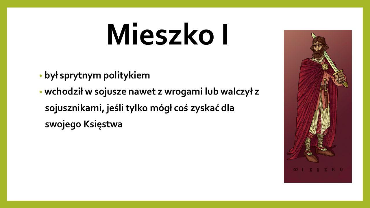 Mieszko I w 964 r.rozpoczął rozmowy sojusznicze z władcą Czech, Bolesławem I Srogim w 965 r.