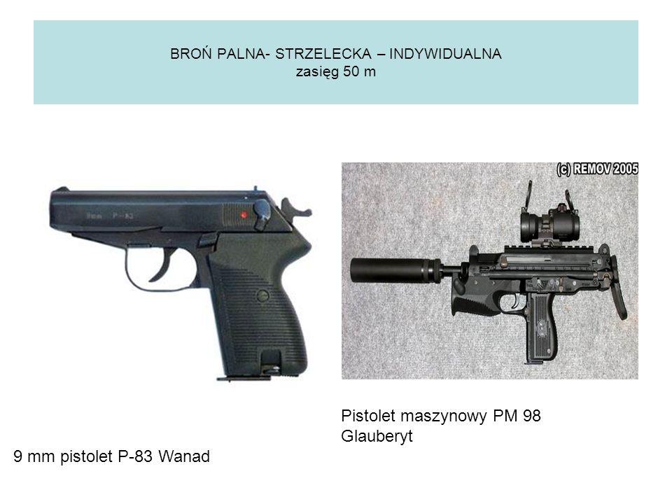 BROŃ PALNA- STRZELECKA – INDYWIDUALNA zasięg 450 m Karabinek automatyczny Beryl Karabinek automatyczny AK 47
