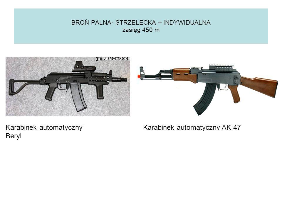 BROŃ PALNA- STRZELECKA – ZESPOŁOWA zasięg 1300-2000m GRANATNIK MK - 19 Karabin PKM SP