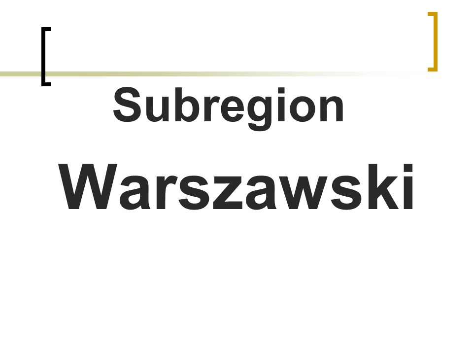 Subregion Warszawski