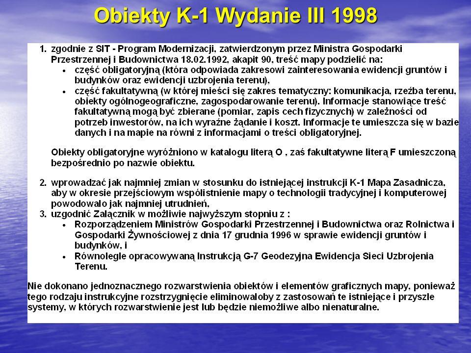 Obiekty K-1 Wydanie III 1998