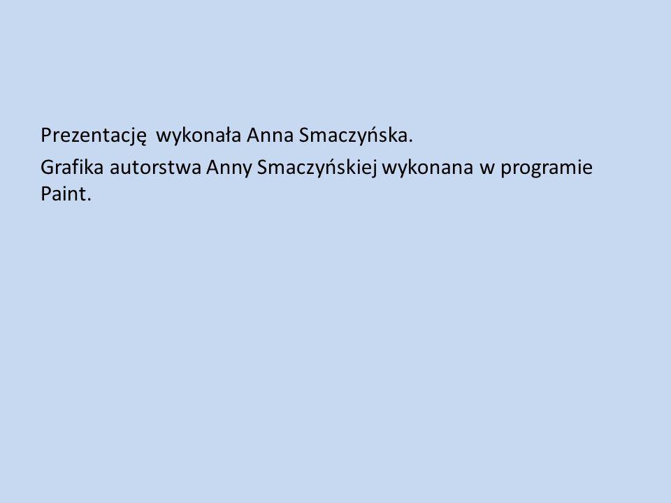 Prezentację wykonała Anna Smaczyńska.
