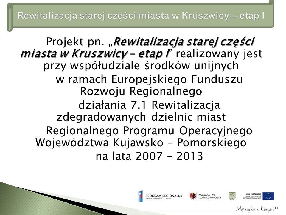 Rewitalizacja starej części miasta w Kruszwicy – etap I Projekt pn.