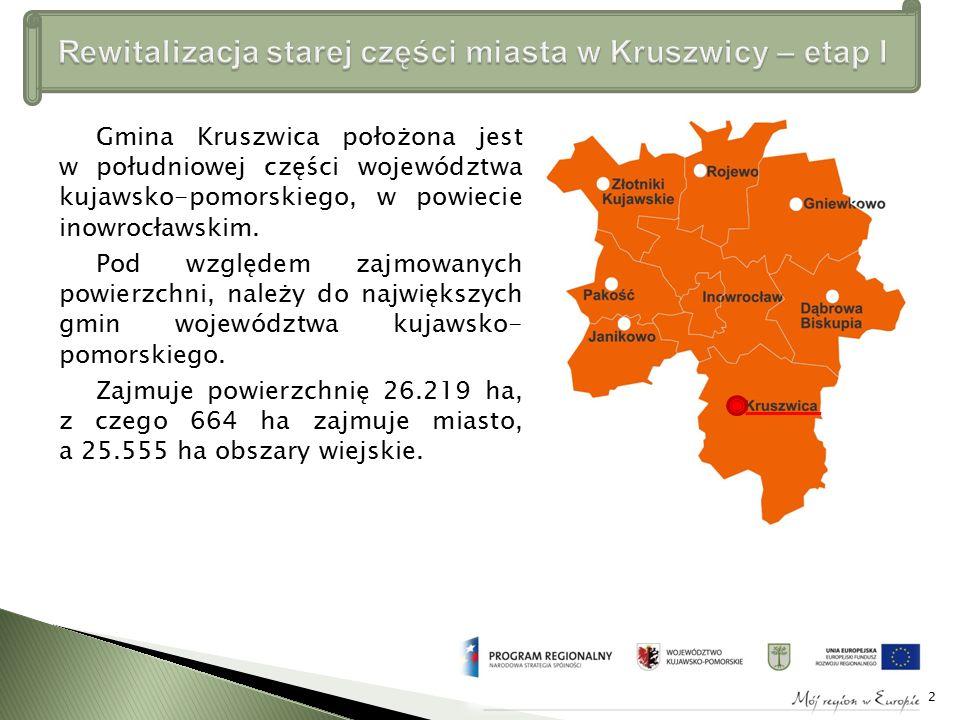 Gmina Kruszwica położona jest w południowej części województwa kujawsko-pomorskiego, w powiecie inowrocławskim.