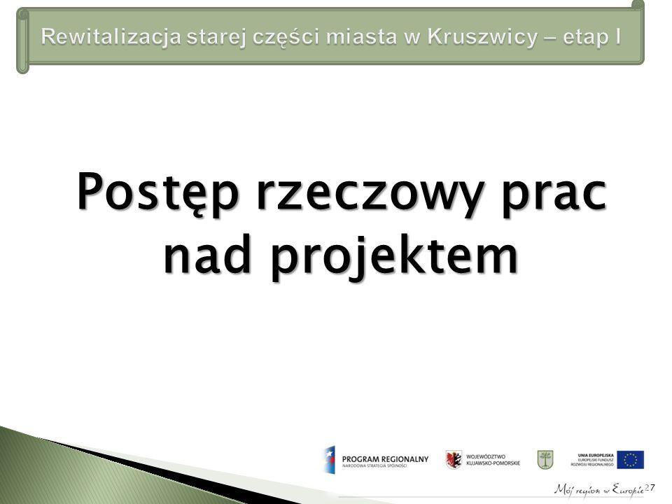 Postęp rzeczowy prac nad projektem 27
