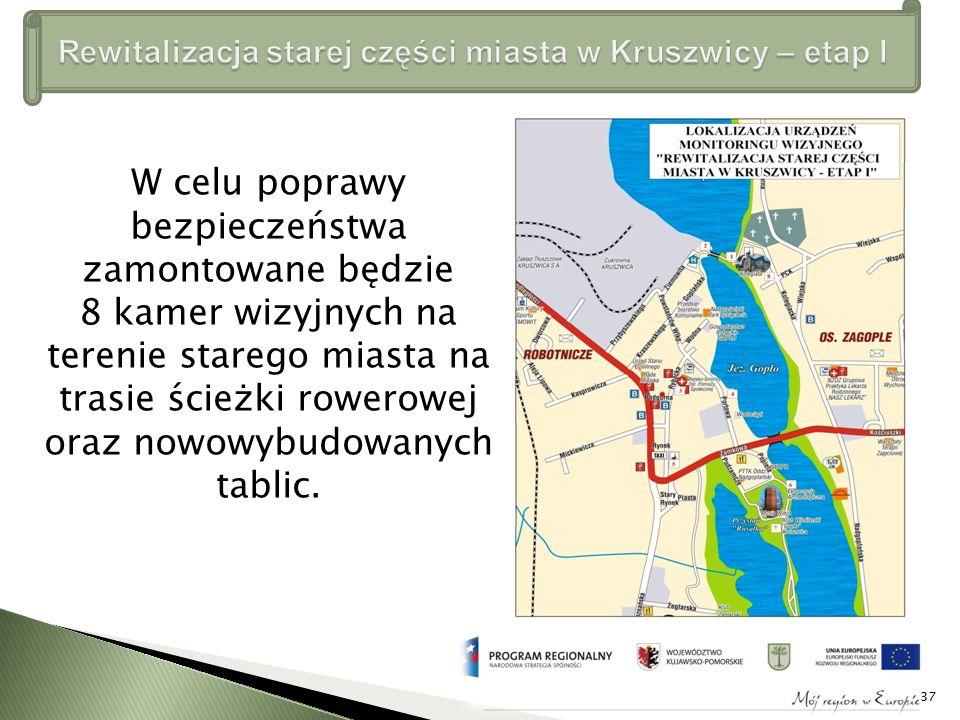 W celu poprawy bezpieczeństwa zamontowane będzie 8 kamer wizyjnych na terenie starego miasta na trasie ścieżki rowerowej oraz nowowybudowanych tablic.