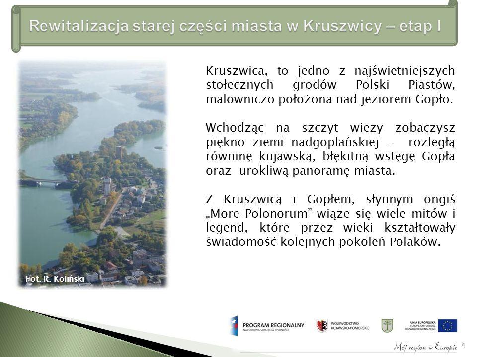 Kruszwica, to jedno z najświetniejszych stołecznych grodów Polski Piastów, malowniczo położona nad jeziorem Gopło.