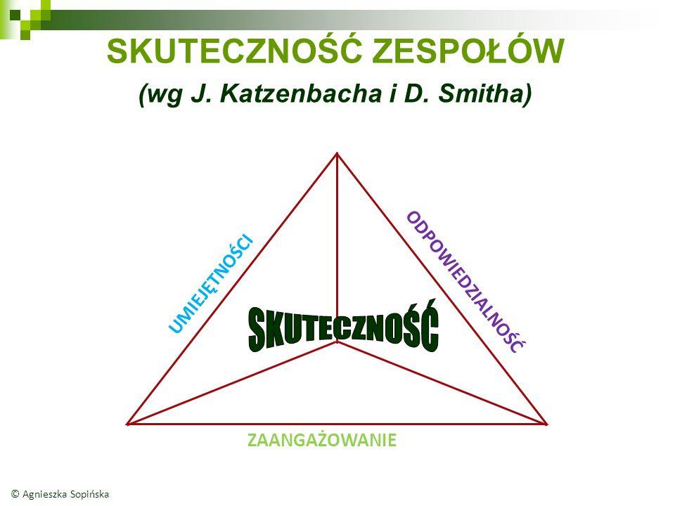 SKUTECZNOŚĆ ZESPOŁÓW (wg J. Katzenbacha i D.