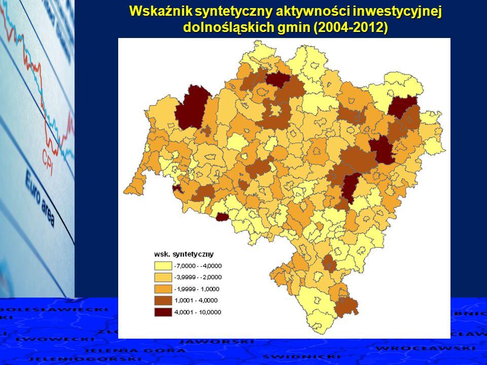 Wskaźnik syntetyczny aktywności inwestycyjnej dolnośląskich gmin (2004-2012)