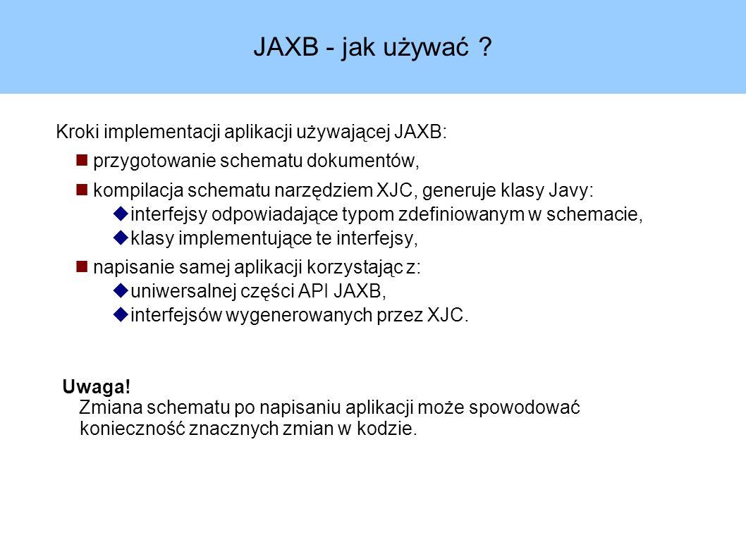 JAXB - jak używać .