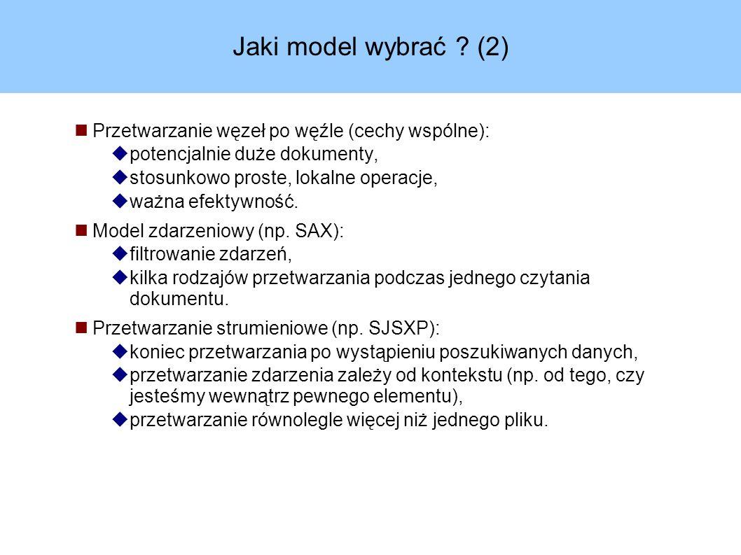 Jaki model wybrać .