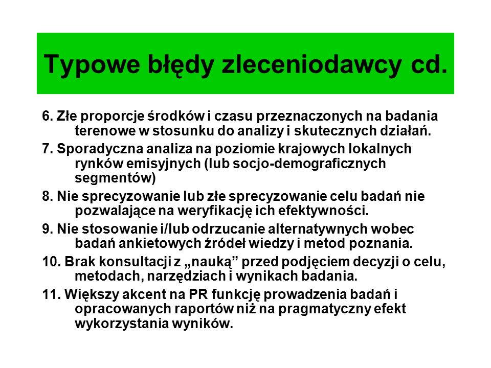 Typowe błędy zleceniodawcy cd. 6.
