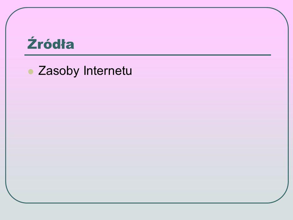 Źródła Zasoby Internetu