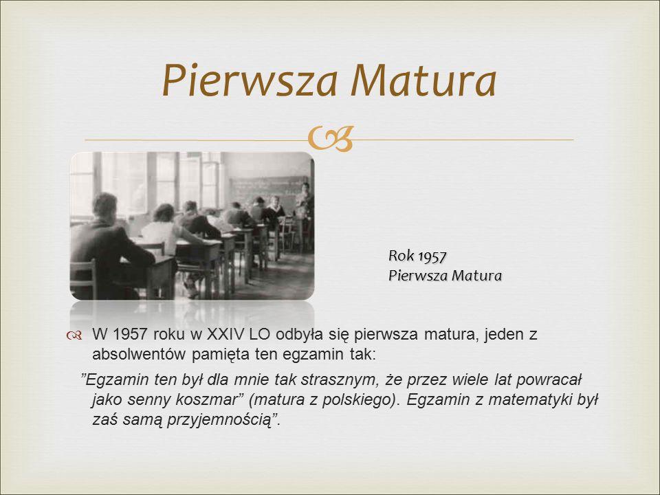  XXIV Dyrektorzy XXIV LO w Łodzi 1953 - 1966 mgr Leokadia Amanowicz 1966 - 1982 mgr Maria Siniarska 1982 – 1991 mgr Maria Klażyńska 1991 - 2001 mgr Krystyna Kamiańska od 2001 mgr Jolanta Kalisiak