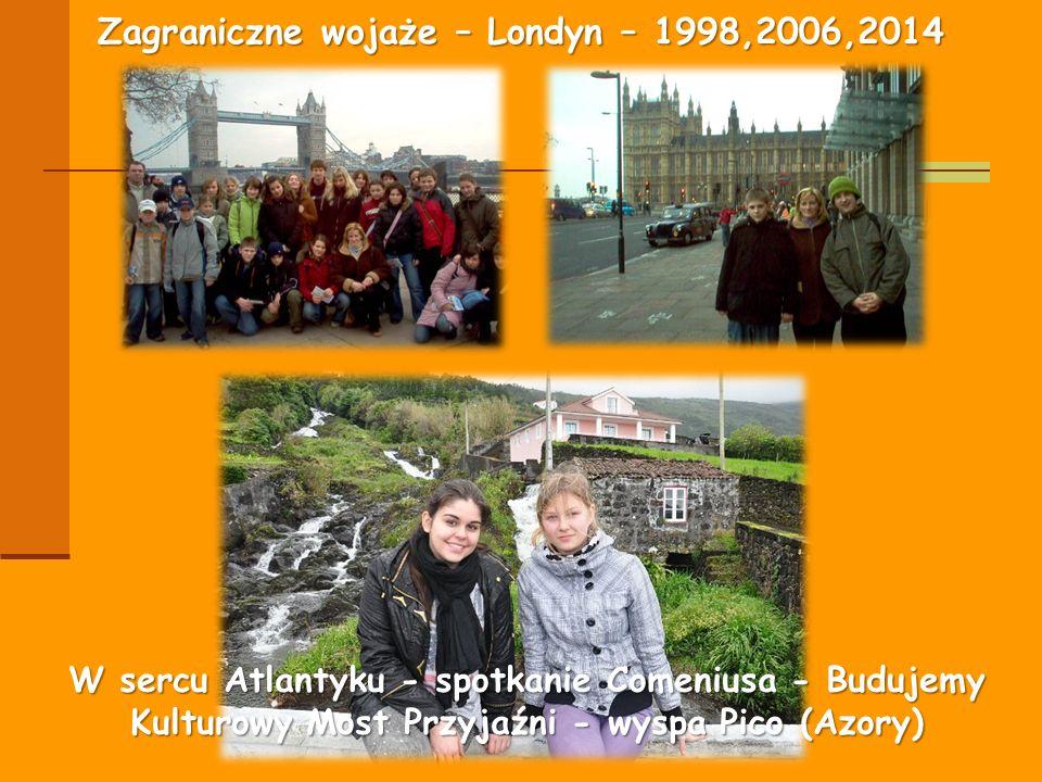 Zagraniczne wojaże – Londyn – 1998,2006,2014 W sercu Atlantyku - spotkanie Comeniusa - Budujemy Kulturowy Most Przyjaźni - wyspa Pico (Azory)