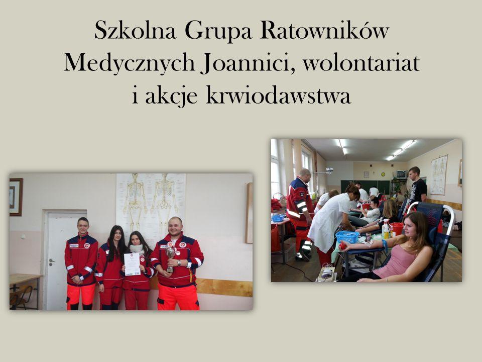 Szkolna Grupa Ratowników Medycznych Joannici, wolontariat i akcje krwiodawstwa