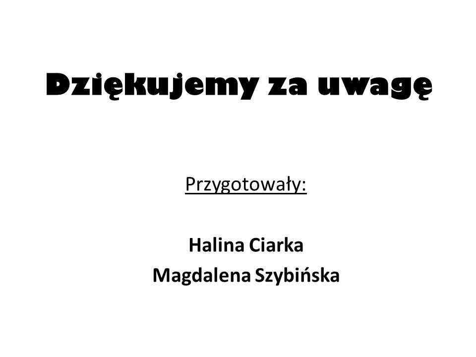 Dziękujemy za uwagę Przygotowały: Halina Ciarka Magdalena Szybińska