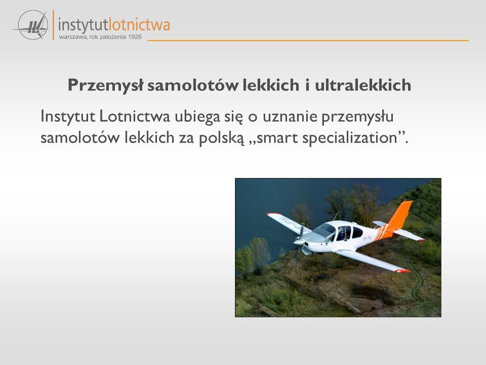 """Przemysł samolotów lekkich i ultralekkich Instytut Lotnictwa ubiega się o uznanie przemysłu samolotów lekkich za polską """"smart specialization ."""