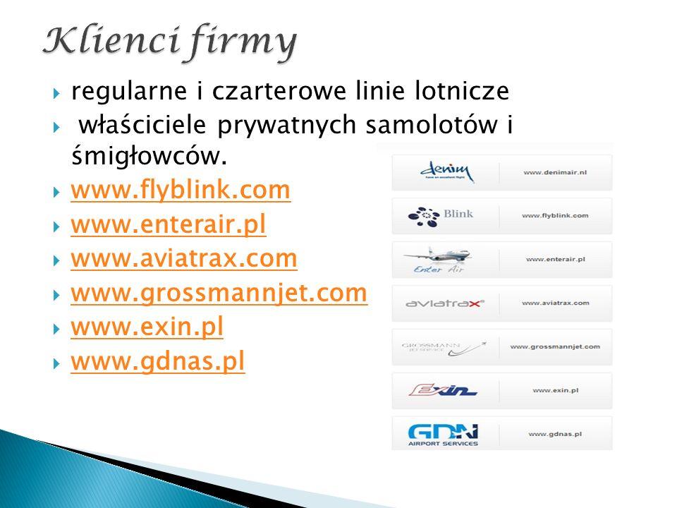  regularne i czarterowe linie lotnicze  właściciele prywatnych samolotów i śmigłowców.