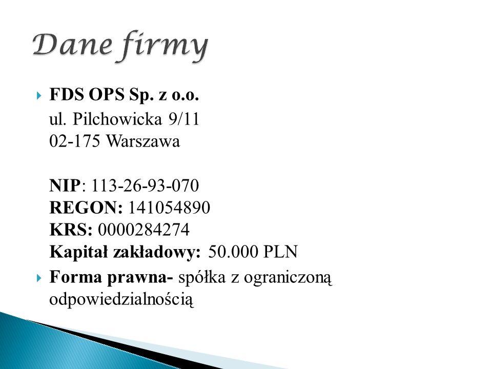  FDS OPS Sp. z o.o. ul.