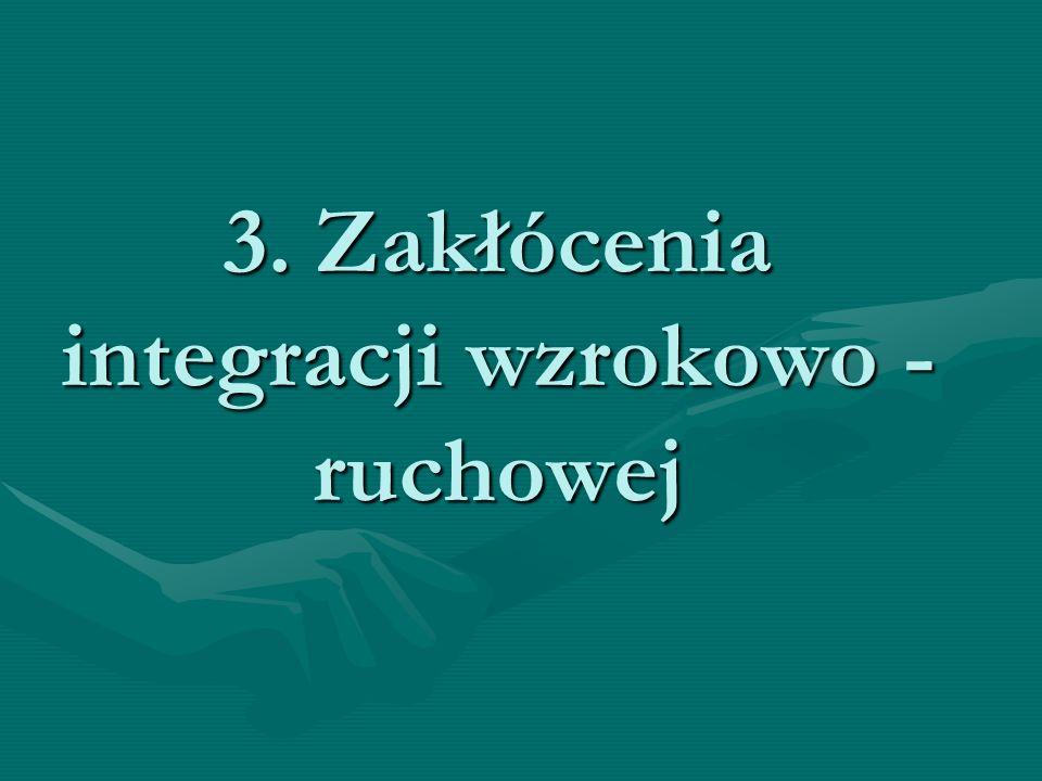 3. Zakłócenia integracji wzrokowo - ruchowej