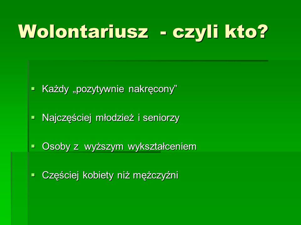 Wolontariusz - czyli kto.