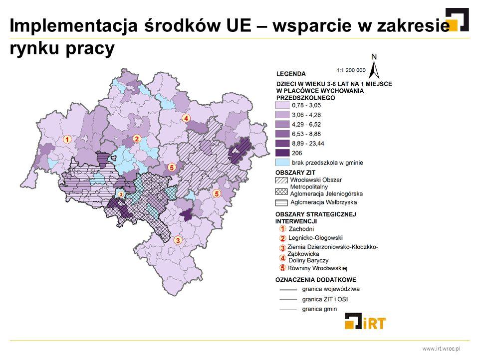 www.irt.wroc.pl Implementacja środków UE – wsparcie w zakresie rynku pracy
