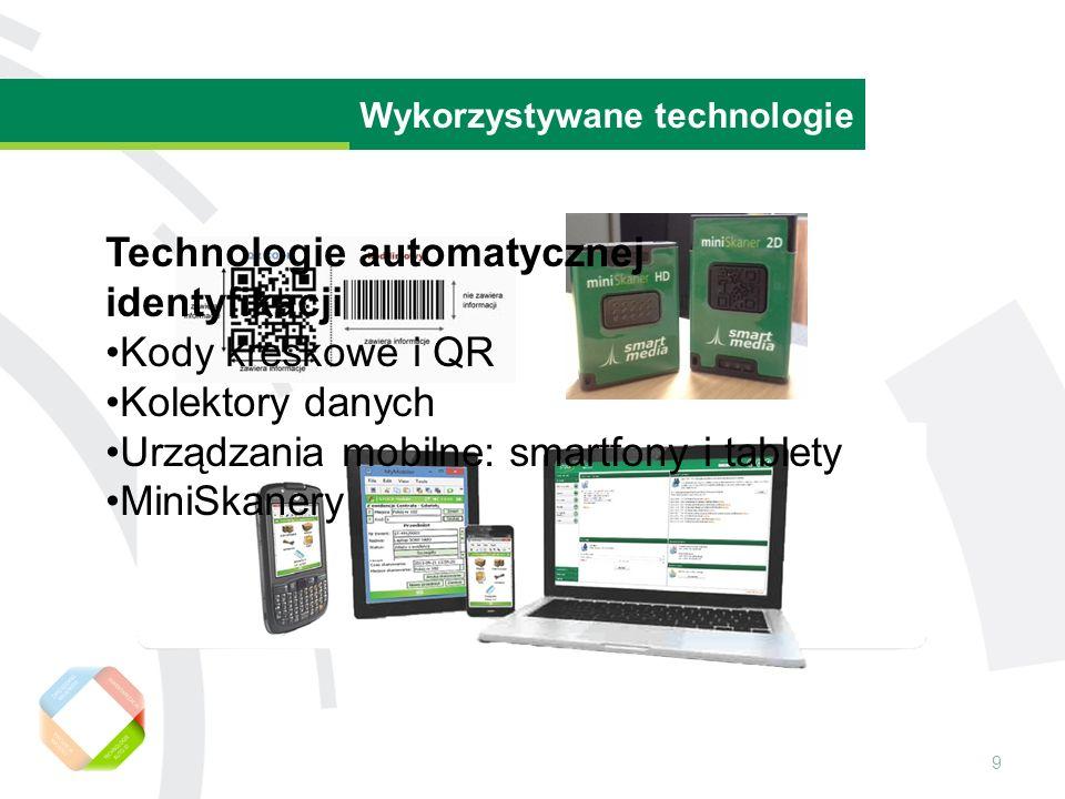 9 Wartość rezydualna środka trwałego Wykorzystywane technologie Technologie automatycznej identyfikacji Kody kreskowe i QR Kolektory danych Urządzania