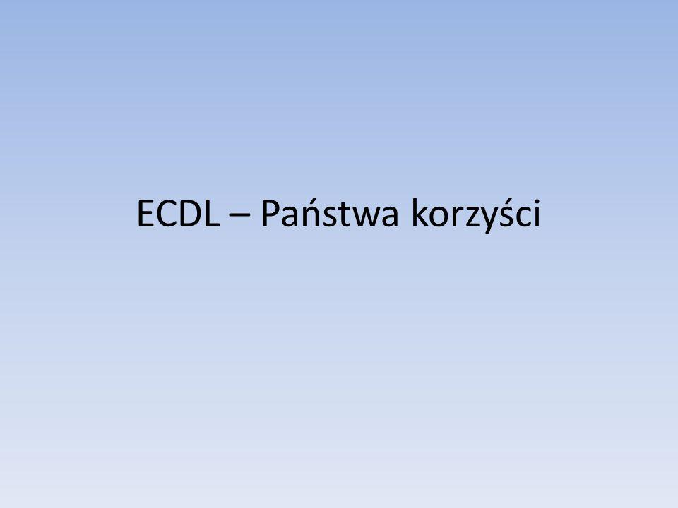 ECDL – Państwa korzyści
