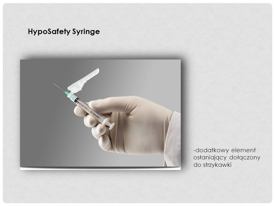 HypoSafety Syringe -dodatkowy element osłaniający dołączony do strzykawki
