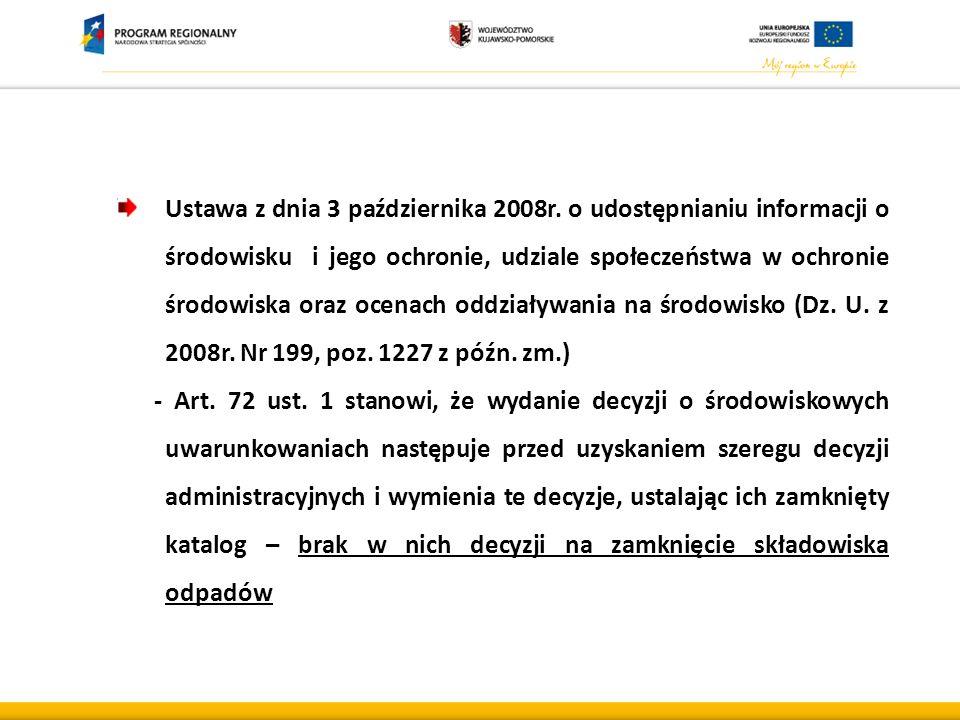 Ustawa z dnia 3 października 2008r.