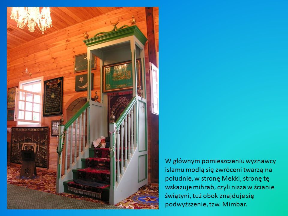 Meczetem opiekuje się Pani Eugenia Radkiewicz, urodzona w pobliskiej wiosce Malawicze Górne w tatarskiej rodzinie.