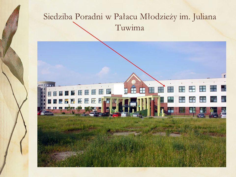 Siedziba Poradni w Pałacu Młodzieży im. Juliana Tuwima