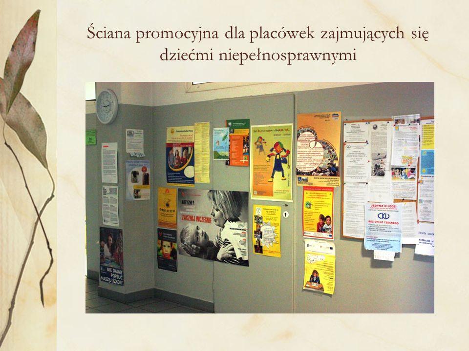 Ściana promocyjna dla placówek zajmujących się dziećmi niepełnosprawnymi