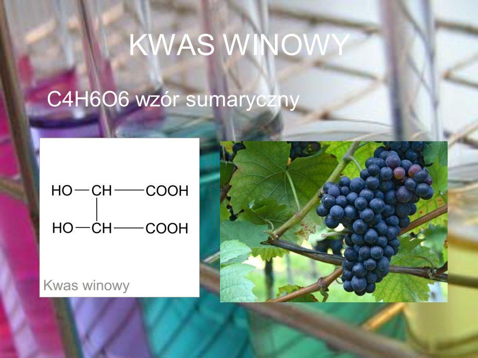 KWAS WINOWY C4H6O6 wzór sumaryczny