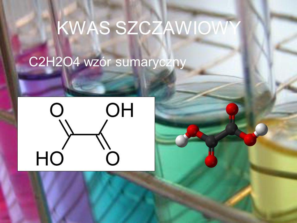 KWAS SZCZAWIOWY C2H2O4 wzór sumaryczny