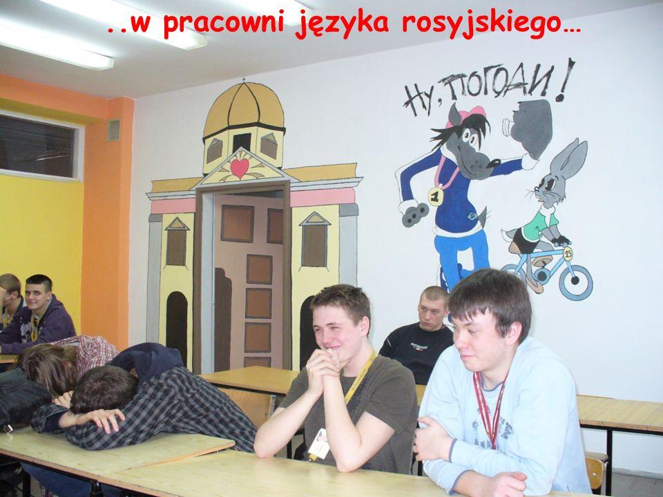 ..w pracowni języka rosyjskiego…