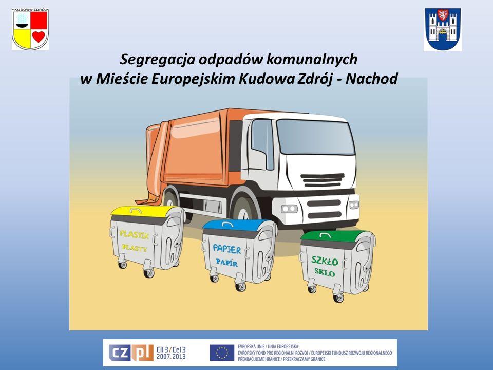 Třídění komunálního odpadu v evropském městě Kudowa Zdrój - Náchod Propagační materiály realizované v rámci projektu ekologický kalendář propagace projektu