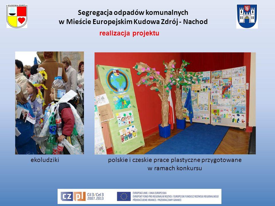 Segregacja odpadów komunalnych w Mieście Europejskim Kudowa Zdrój - Nachod ekoludzikipolskie i czeskie prace plastyczne przygotowane w ramach konkursu realizacja projektu
