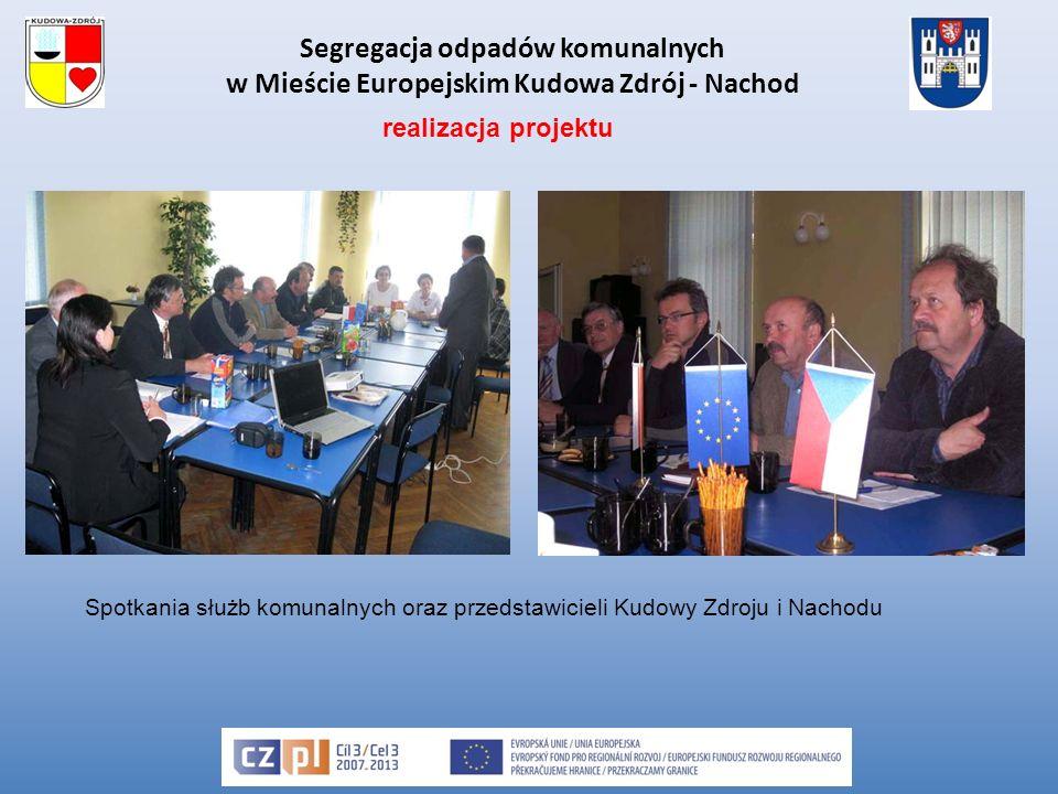 Segregacja odpadów komunalnych w Mieście Europejskim Kudowa Zdrój - Nachod Spotkania służb komunalnych oraz przedstawicieli Kudowy Zdroju i Nachodu realizacja projektu
