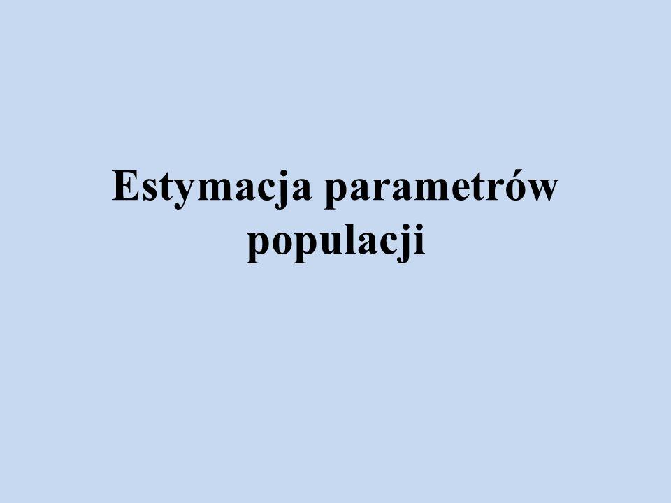 Estymacja parametrów populacji