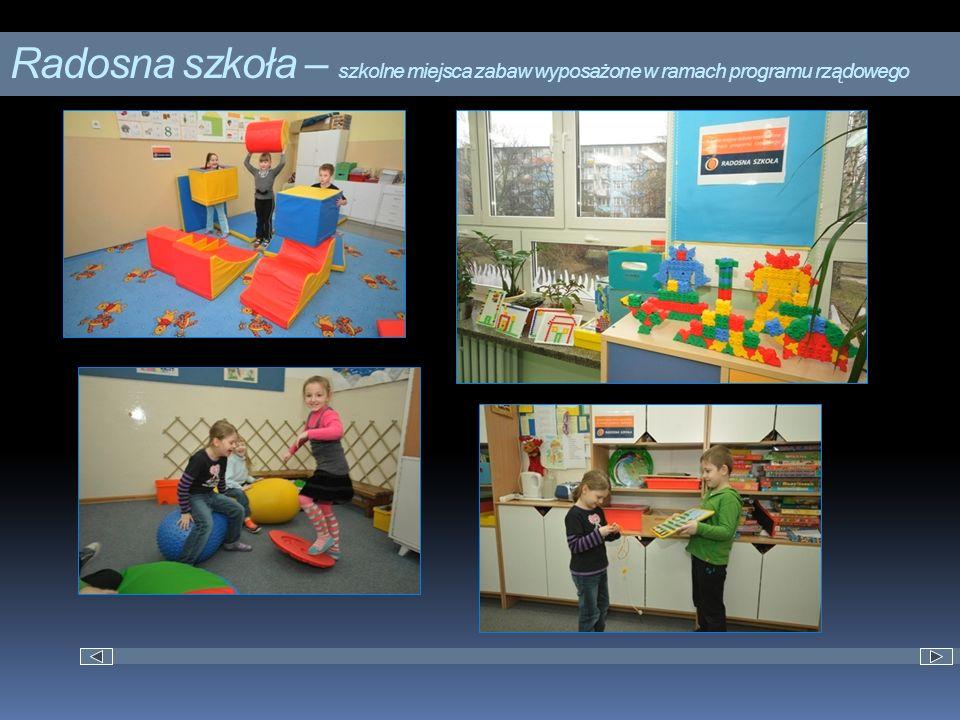 Radosna szkoła – szkolne miejsca zabaw wyposażone w ramach programu rządowego